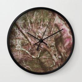 Wetland Trees (colour) Wall Clock