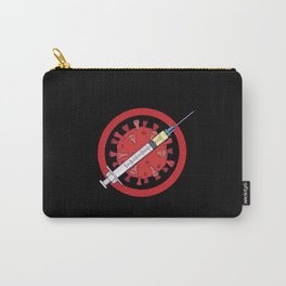 No Virus syringe symbol Carry-All Pouch