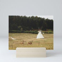 Salida Teepee Deer Mini Art Print