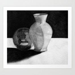 Vase with Sphere Art Print