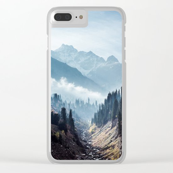 VALLEY - MOUNTAINS - TREES - RIVER - PHOTOGRAPHY - LANDSCAPE Clear iPhone Case