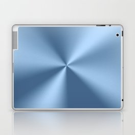 Blue metallic stainless steel pattern print Laptop & iPad Skin