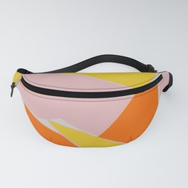 Abstract mosaic pink and yellow Fanny Pack