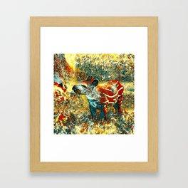 AnimalArt_Tapir_201901_by_JAMColors Framed Art Print