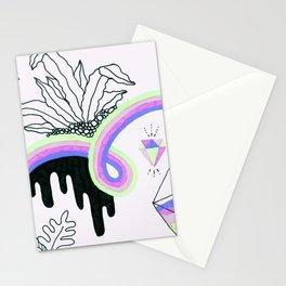 Rainbow Slime Terrarium - Version 2 Stationery Cards