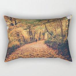 Autumn Walk New York City Rectangular Pillow
