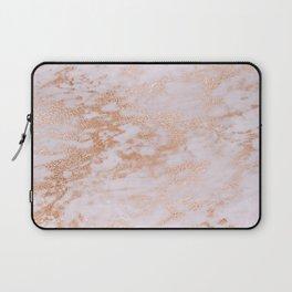 Pastel Lavender Marble Rosegold Glitter Pink Laptop Sleeve
