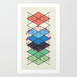 Fractal pattern Art Print