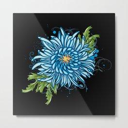 Blue chrysanthemum Metal Print