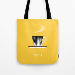 Zebra. Yellow Tote Bag