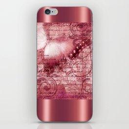 LE PAPILLON | raspberry iPhone Skin