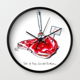 Piece of (Me)at Wall Clock