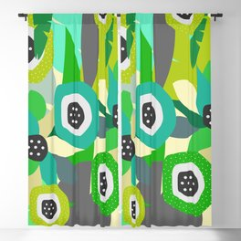 Bright tropical vibe Blackout Curtain