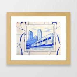 Down Train Framed Art Print