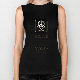 Peace is Poison to the State Biker Tank
