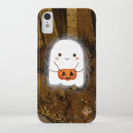 Little ghost and pumpkin iPhone Case