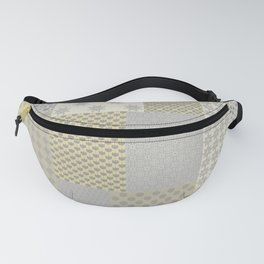 Modern Farmhouse Patchwork Quilt in Gray Marigold and Oatmeal Fanny Pack