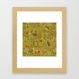 Hedgehog Meadow Framed Art Print