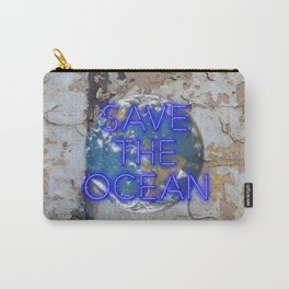 Save the Ocean - Neon Carry-All Pouch