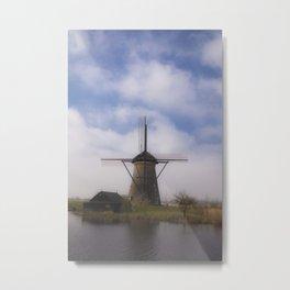 Kinderdijk Windmill III Metal Print