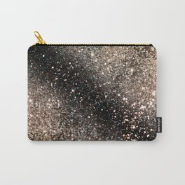 Sparkling GOLD BLACK Lady Glitter #3 #decor #art #society6 Carry-All Pouch