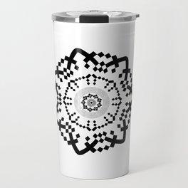 Aztec Mandala [BW VAR] Travel Mug