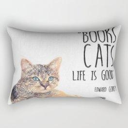Cat Quote By Edward Gorey Rectangular Pillow