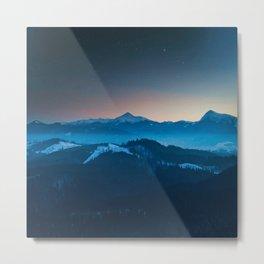 Foggy mountains panorama Metal Print