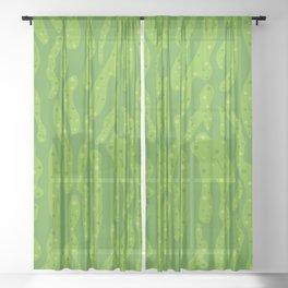 Splattered Slime Sheer Curtain