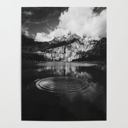 Ripple (Black and White) Poster