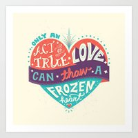 lyrics Art Prints featuring Lyrics Love by Pink Berry Patterns
