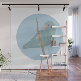 Blue Fallow Pacific Parrotlet Wall Mural