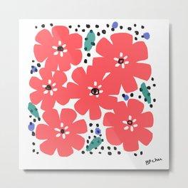 Big Red Flowers Metal Print