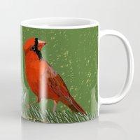 cardinal Mugs featuring Cardinal by Janko Illustration