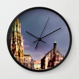 Nuremberg Market Scene Wall Clock