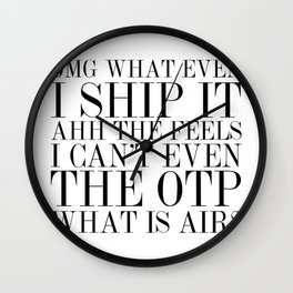 Fangirling is so Vogue Wall Clock