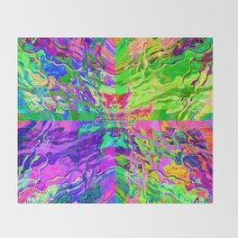 Neon Waters Throw Blanket