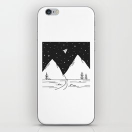 """Fly Away"" - Paper Plane Landscape iPhone Skin"