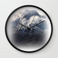 helen green Wall Clocks featuring Helen by Charley Zheng
