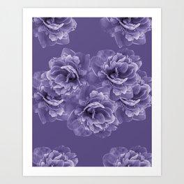 Ultra Violet Peony Flower Bouquet #1 #floral #decor #art #society6 Art Print