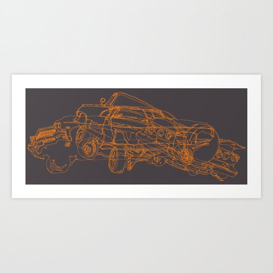 Car Clump Art Print