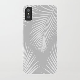Gray Tropical Pattern iPhone Case