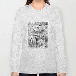 Abstract Artwork Greyscale #2 Long Sleeve T-shirt