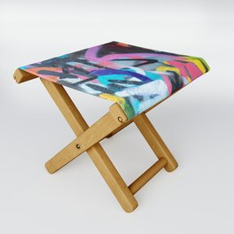 Street Art Graffiti Photography by Dominic Joyce Folding Stool