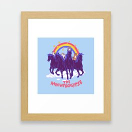 Four Horsemittens Of The Meowpocalypse Framed Art Print