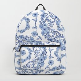 Blue Rhapsody on white Backpack