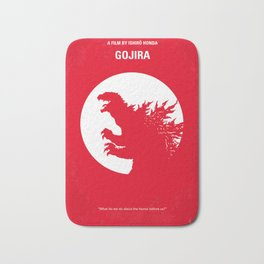 No029-1 My Godzilla 1954 minimal movie poster Bath Mat
