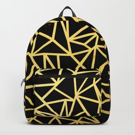 Abstract Outline Thick Gold Backpack