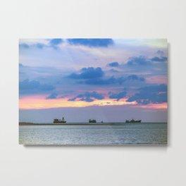 Sunset In Melaka Beach Metal Print