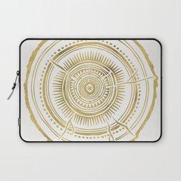 Quaking Aspen – Gold Tree Rings Laptop Sleeve